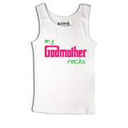 Godmother Rocks - Singlet Personalised for Kids