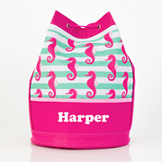 Seahorse - Personalised Kids Swim Bag