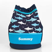 Shark - Personalised Kids Swim Bag