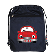Personalised Kids Swim Bag -  Red Car