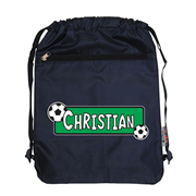 Personalised Kids Swim Bag -  Soccer