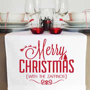 Personalised Table Runner  - Bold Merry Christmas