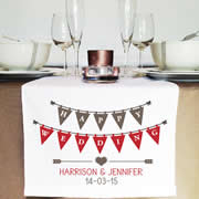 Personalised Table Runner  - Bunting