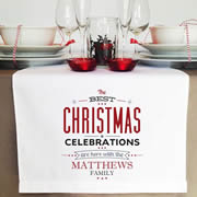 Personalised Table Runner  - Christmas Celebrations