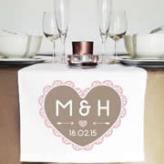 Personalised Table Runner  - Filagree Heart
