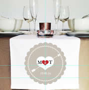 Personalised Table Runner  - Lace Heart