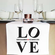 Personalised Table Runner  - LOVE