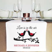 Personalised Table Runner  - Love Doves