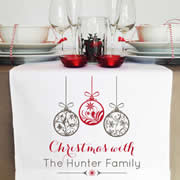 Personalised Table Runner  - Ornaments