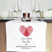 Personalised Table Runner  - Two People One Love