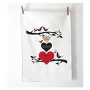 Personalised Tea Towel - 3 Hearts