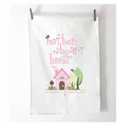 Personalised Tea Towel - A Mother Is The Heart Of A Home