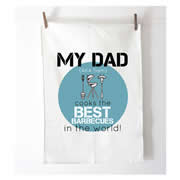 Personalised Tea Towel - Best Barbecues - Blue