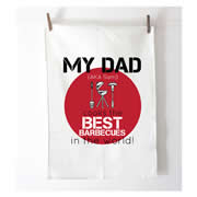 Personalised Tea Towel - Best Barbecues - Red
