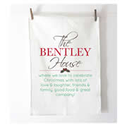 Personalised Tea Towel - Christmas