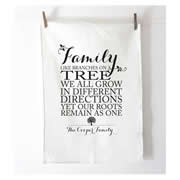 Personalised Tea Towel - Family Roots