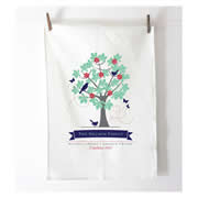 Personalised Tea Towel - Family Tree