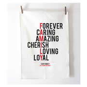 Personalised Tea Towel - Family Typographic