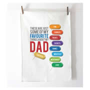 Personalised Tea Towel - Favourite Things