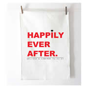 Personalised Tea Towel - Happily Ever After