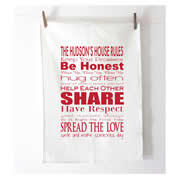 Personalised Tea Towel - House Rules