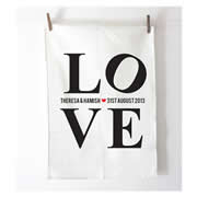 Personalised Tea Towel - Love
