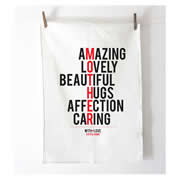 Personalised Tea Towel - Mother Typographic