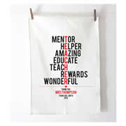 Personalised Tea Towel - Teacher Typographic