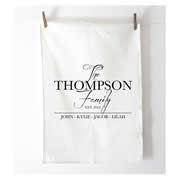 Personalised Tea Towel - The Family