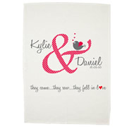 Personalised Tea Towel - Lovers