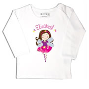 Personalised clothing for kids - Fairy Ballerina - T-Shirt Personalised for Kids