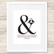 Personalised Wall Art Print - Wedding/Love Print - Ampersand