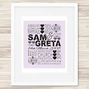 Personalised Wall Art Print - Wedding/Love Print - Wedding Day