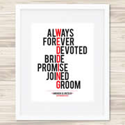 Personalised Wall Art Print - Wedding/Love Print - Wedding Typography