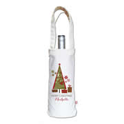 Personalised Wine Carry Bag - Christmas Tree