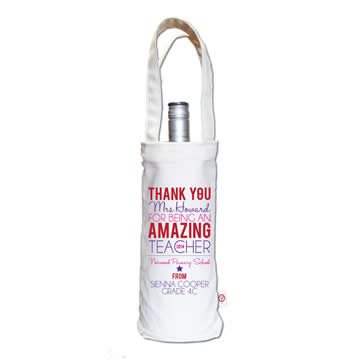 Personalised Wine Carry Bag - Female Amazing Teacher