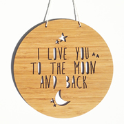 Personalised wooden bamboo wall hanging  - To The Moon and Back