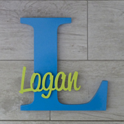 Personalised Wooden Letters for kids - Bermuda Blue