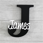 Personalised Wooden Letters for kids - Black