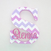 Personalised Wooden Letters for kids - Chevron Girl