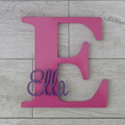 Personalised Wooden Letters for kids - Hot Pink