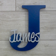 Personalised Wooden Letters for kids - Navy Blue