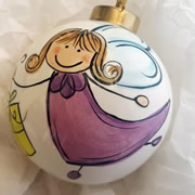 Bauble Christmas Handpainted Ceramic and Personalised Christmas Maggie Fairy