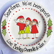Handpainted Personalised Christmas Plate - From the Kids