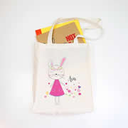 Personalised Library Bag - Pretty Bunny Girls