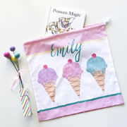 Personalised Library Bag - Icecream