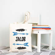 Personalised Library Bag - Arrow Boys