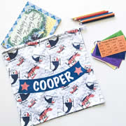 Personalised Library Bag - Helicopter & Aeroplane