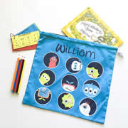 Personalised Library Bag - Monsters