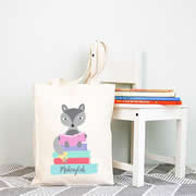Personalised Library Bag - Girls Fox